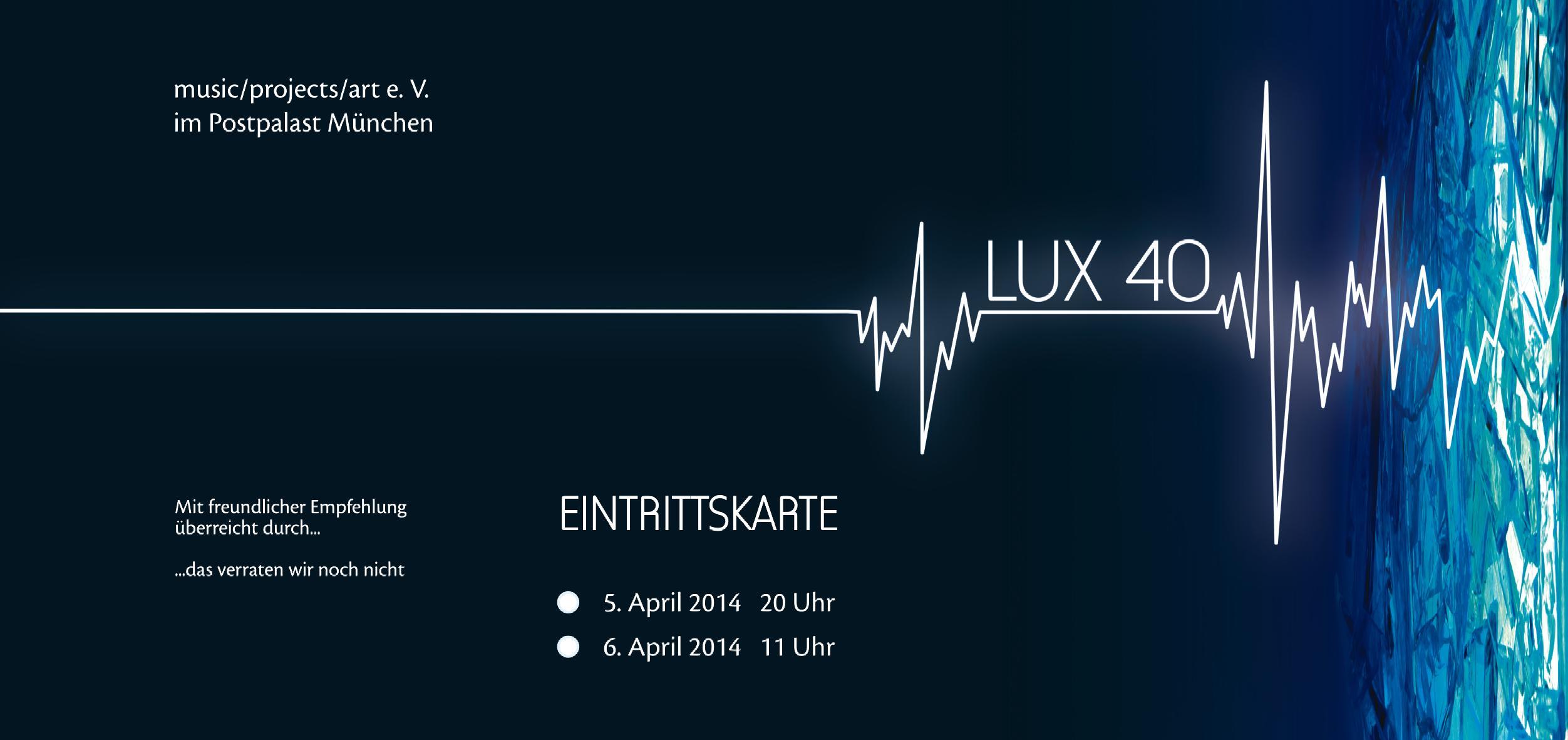 LUX 40 EintrittskarteKat0
